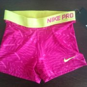 "Sporting shorts ""Nike Pro Compression Supercool"" - pink with pink ribbons"