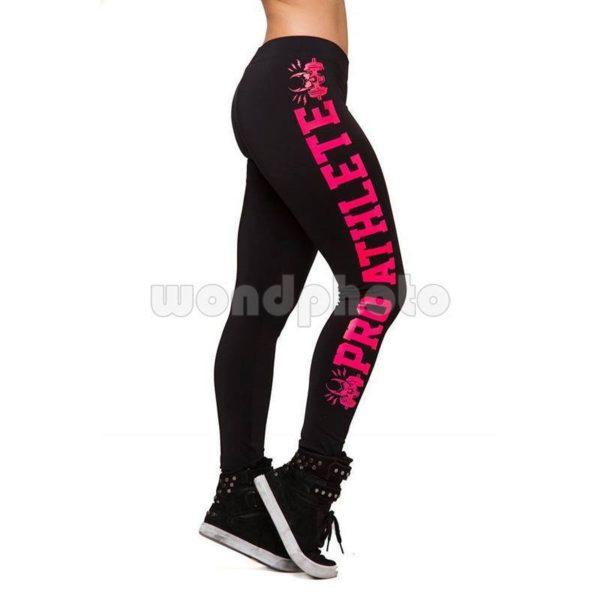 """Спортен клин """"Pro Athlete"""" - черен с розов натпис"""