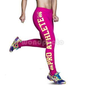 """Спортен клин """"Pro Athlete"""" - розов с жълт натпис"""