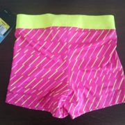 """Спортни гащета """"Nike Pro Compression Supercool"""" - розови с жълти ленти"""