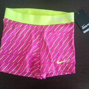 """Sporting shorts """"Nike Pro Compression"""" - pink with yellow ribbons"""