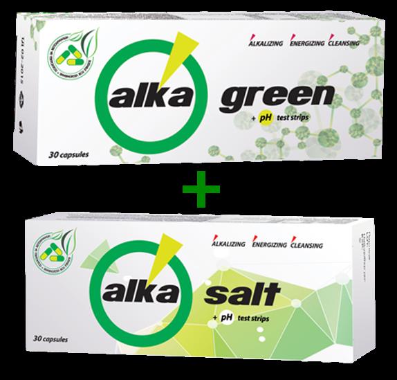 Food additives Alkagreen and Alkasalt