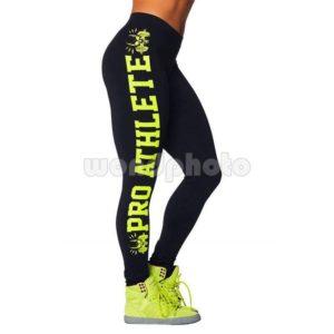 "Спортен клин ""Pro Athlete"" - черен със зелен натпис"